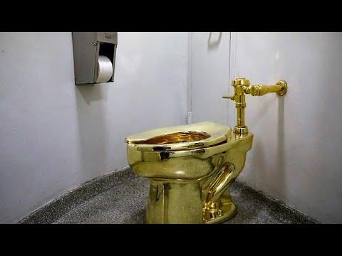 Ο Τραμπ ήθελε Βαν Γκογκ αλλά του προσφέρουν μια χρυσή λεκάνη τουαλέτας!…