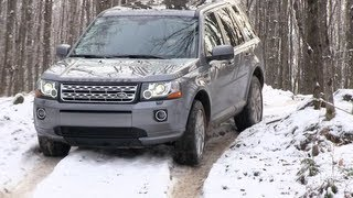 Land Rover LR2&Freelander Snowy&Icy Off-Road First Drive Review: 2013