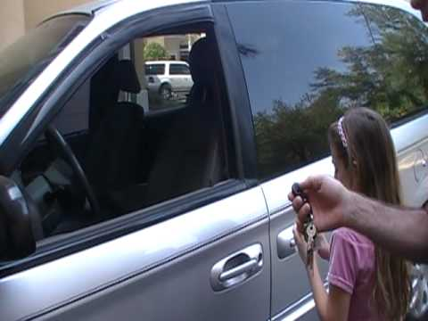 how to open a locked car - This is a short video to prove that a tennis ball can open a locked car door, it's so easy even a 3rd grader can do it. This was shown on mythbusters not to ...