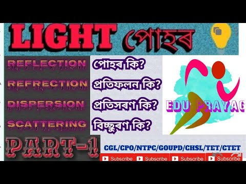 Light।part-1।what is light?reflection & refraction of light for CGL/CHSL/NTPC/FCI/MTS/RRB GroupD