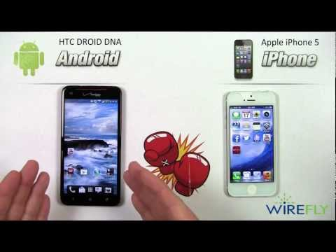 HTC DROID DNA vs iPhone 5 Smartphone Comparison Review