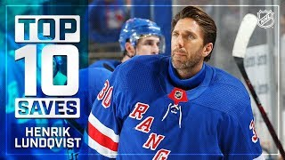 Top 10 Henrik Lundqvist saves from 2018-19 by NHL
