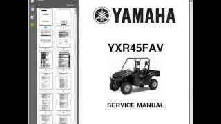 6. Yamaha Rhino 450 UTV - Workshop, Service, Repair Manual