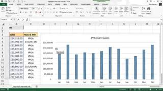 Highlight Max And Min Values On Column Chart