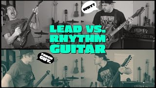 lead vs rhythm guitar