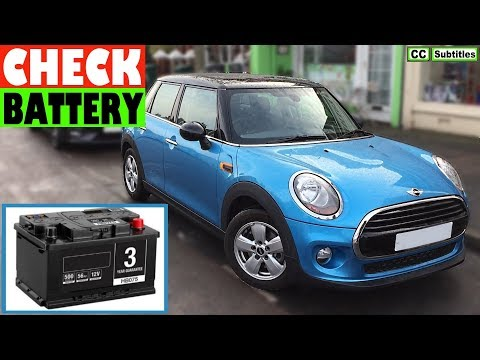 Mini Cooper Battery Location and How to check battery on BMW Mini Cooper 3rd Generation