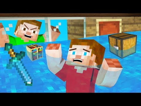 He FLOODED My *SECRET* MINECRAFT HOUSE! (Nearly Died)
