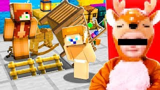 I FOUND GIRLFRIEND and BABY MOOSE'S SECRET HOUSE! (Minecraft)