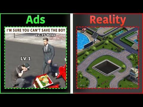 手機遊戲廣告VS真實遊戲畫面