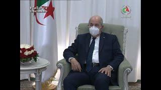 Abdelmadjid Tebboune reçoit l'envoyé spécial de l'UA de l'agence du médicament, Michel Sidibé