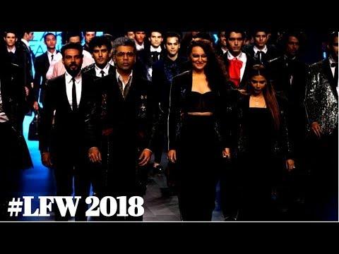 Karan Johar & Sonakshi Sinha As Showstopper For Designer Falguni Shane At Lakmé Fashion Week 2018