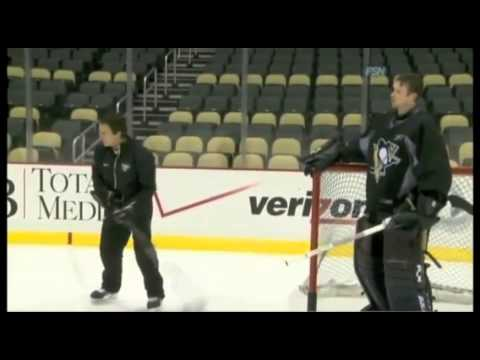 NHL Puckhandling with Goalie Brent Johnson & Coach Gilles Meloche