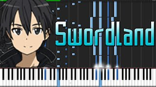 Swordland (Main Theme) - Sword Art Online [Piano Tutorial] Ноты и МИДИ (MIDI) можем выслать Вам (She