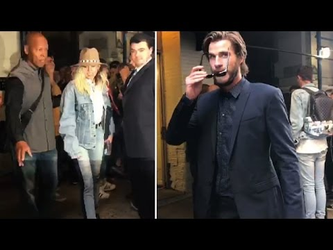 Miley Cyrus And Liam Hemsworth Looking Stylish In NYC