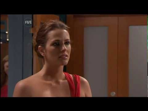 Esther Anderson Sexy Red Dress Home & Away 22-10-08