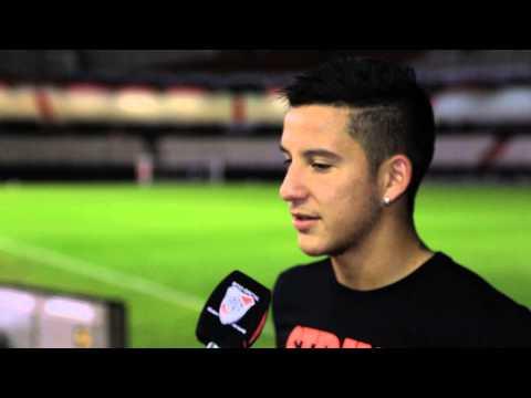 Driussi, autor del primer gol de River ante Banfield
