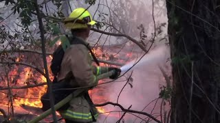 Firefighters Continue to Battle California Fires
