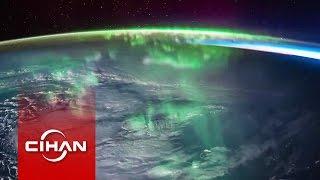 Atmosferdeki 'auroralar' büyüledi
