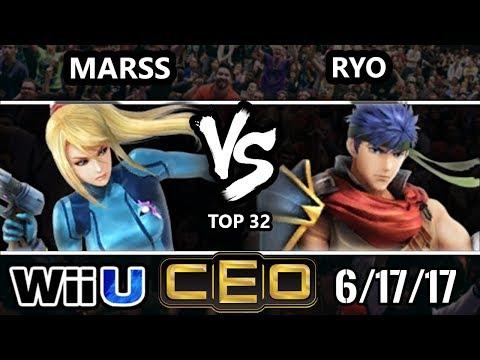 CEO 2017 Smash 4 - Marss (ZSS) vs Noble | Ryo (Ike, Roy) Wii U Tournament