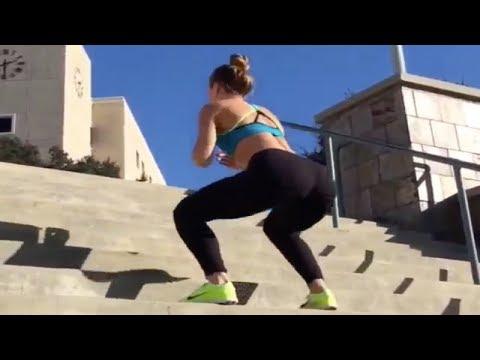 Merdivende kalça sıkılaştırma egzersizi
