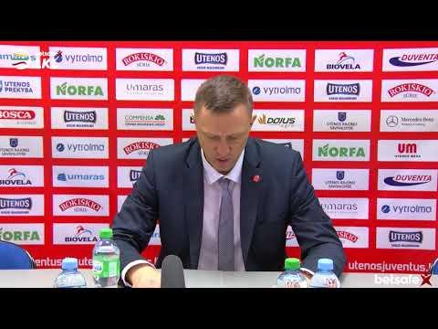 """""""Betsafe–LKL"""" rungtynių komentarai: """"Juventus"""" - """"Nevėžis"""" [2018-10-28]"""