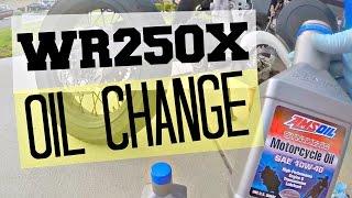 7. WR250X & WR250R Oil Change