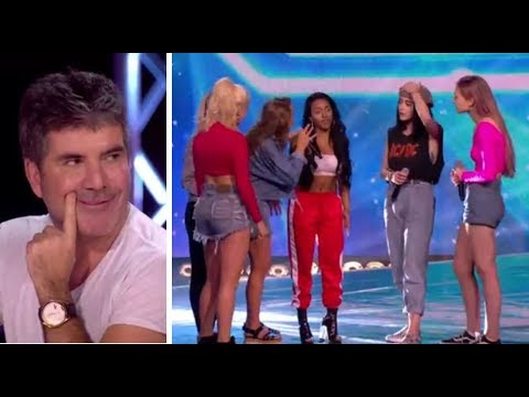 Simon Cowell PULLS a Girl From Her Band To Join NEW Girl Band   The X Factor UK 2017