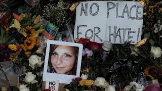 Memorial service at the Paramount Theatre in Charlottesville, VA for Heather Heyer, the woman killed in the incident Saturday. For more info, please go to ht...