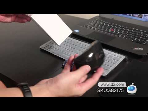 Motospeed G9800 78-Key Ultra-Thin 2.4G Wireless Keyboard + Wireless Optical Mouse Set -- DX.COM