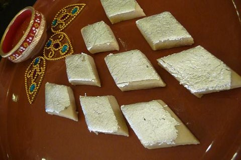 Kaju Katli (Cashew Burfi) - Indian Sweet Recipe