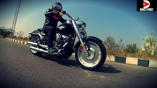 7. 2018 Harley Davidson Fatboy First Ride Review, Exhaust Note #Bikes@Dinos