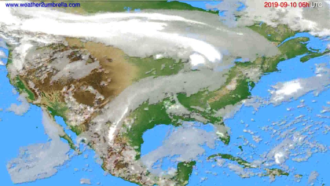 Cloud forecast USA & Canada // modelrun: 00h UTC 2019-09-08