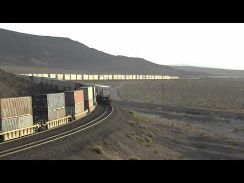 BNSF Puts on a Show In Ludlow,CA- Count The Meets!!!
