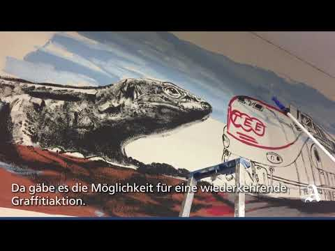Neues Motiv im Mainz-Mombacher Tunnel
