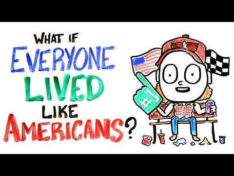 What If Everyone Lived Like Americans? (видео)