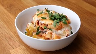 Save & Bake Beef and Cheese Rigatoni by Tasty