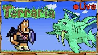 Terraria - The Big Battle - Stampy Vs Duke Fishron - • Live
