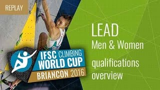 IFSC Climbing World Cup Briancon 2016 - Qualifications Overview by International Federation of Sport Climbing