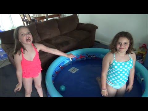 2 Swimming Pools In Our House! 'Victoria & Annabelle Toy Freaks'
