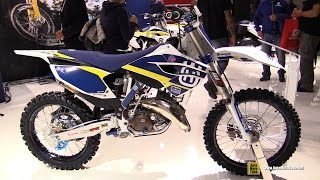 9. 2015 Husqvarna TC 125 Husky Power Motocross Bike - Walkaround - 2014 EICMA Milan Motorcycle Show