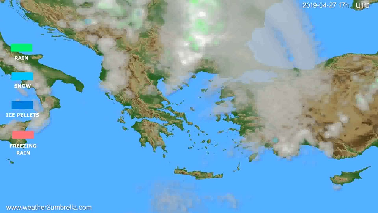 Precipitation forecast Greece // modelrun: 00h UTC 2019-04-26