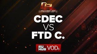 CDEC vs FTD Club C, DPL Season 2 - Div. A, game 1 [Tekcac]