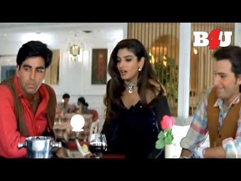 Akshay Kumar & Saif Ali Khan Trying To Impress Raveena Tandon | Keemat | HD