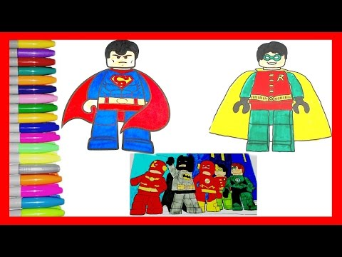 Lego Ninjajo Coloring Pages.All Your Favourite Lego Superheros BATMAN, ROBIN,SUPERMAN,FLASH And More