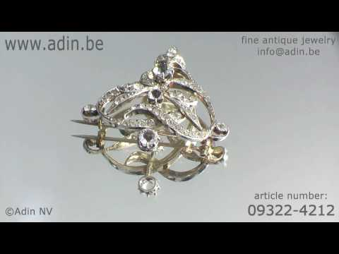 09322-4212 Stylish Art Nouveau paste brooch Adin Antique Jewelry.mp4