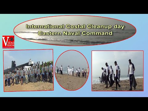 International Coastal Cleanup Day ENC undertakes Cleanup Drive at Beach in Visakhapatnam,Vizagvision