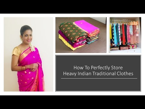 Best Ways To Fold & Store Heavy Sarees Lehengas Anarkalis