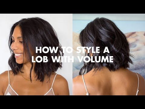 Hairstyles for short hair - How To Style A Lob With Volume