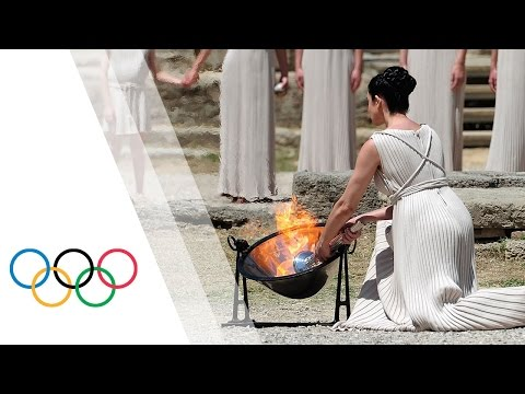 Rio 2016-Lighting Ceremony of the Olympic Flame from Olympia, Greece