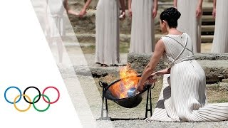 Olympia Greece  City new picture : Rio 2016 | HD Replay - Lighting Ceremony of the Olympic Flame from Olympia, Greece